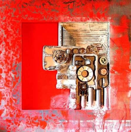 Vivek Rao | Decorative Assemblages II Mixed media by artist Vivek Rao on wood | ArtZolo.com