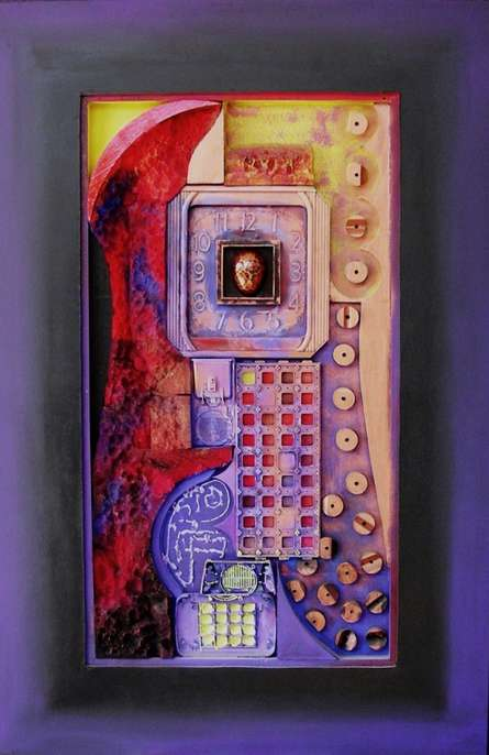 Its My Time | Mixed_media by artist Vivek Rao | wood and acrylic