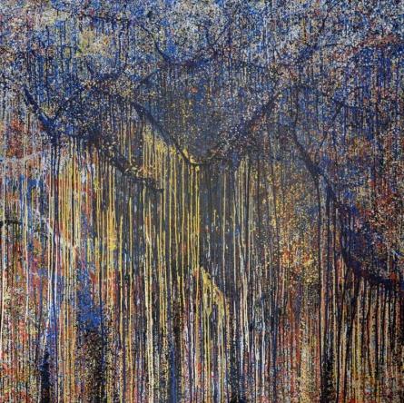 Nature Acrylic Art Painting title 'Banyan Series 5' by artist Aparna Bidasaria
