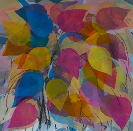art, painting, acrylic, paper, nature