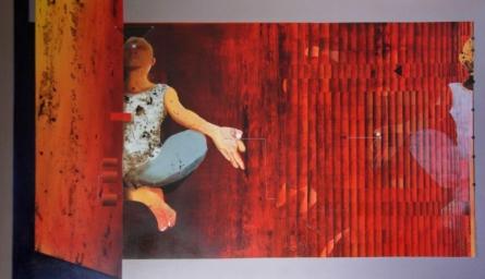 contemporary Acrylic Art Painting title 'Meditation' by artist Nayanjeet Nikam