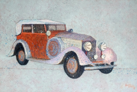 Transportation Acrylic Art Painting title 'Vintage Series 9' by artist Kanchan Hande
