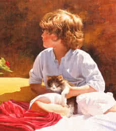 Where are you looking at | Painting by artist Jose Higuera | oil | Canvas