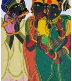 Thota Vaikuntam | Acrylic Painting title Untitled on Canvas | Artist Thota Vaikuntam Gallery | ArtZolo.com