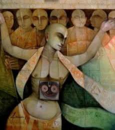 Hari Naam | Painting by artist Arun Samadder | oil | Canvas