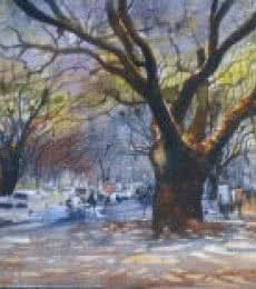 Trees   Painting by artist Bijay Biswaal   watercolor   Paper
