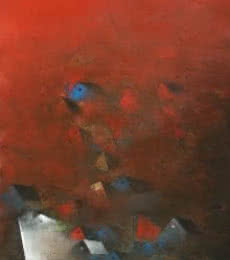 M Singh Paintings | Abstract Painting - The Villages by artist M Singh | ArtZolo.com