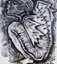 Pain 3 | Drawing by artist Rupchand Kundu | | others | Paper