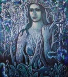 Figurative Oil Art Painting title 'Nature Of Beauty2' by artist Rupchand Kundu