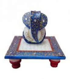 Ecraft India | Painted Marble Ganesha Sculpture Craft Craft by artist Ecraft India | Indian Handicraft | ArtZolo.com