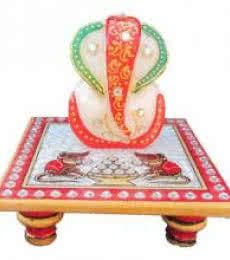 Ecraft India | Lord Ganesha On Chowki With Rats Craft Craft by artist Ecraft India | Indian Handicraft | ArtZolo.com