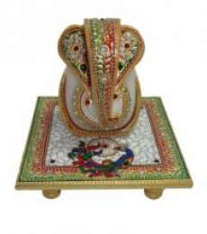 Generous Lord Ganesha | Craft by artist Ecraft India | Marble