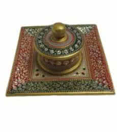 Embossed Multicolored Box Tray | Craft by artist Ecraft India | Marble