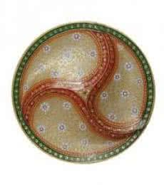 Embossed Dry Fruit Designer Plate   Craft by artist Ecraft India   Marble