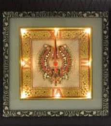 Ecraft India | Jewellery Designed Wall Clock Craft Craft by artist Ecraft India | Indian Handicraft | ArtZolo.com