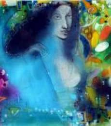 Figurative Acrylic Art Painting title 'Monsoon 1' by artist Madan Lal