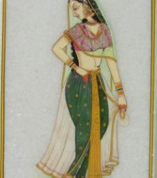 Beautiful Ragini | Craft by artist Ecraft India | Marble
