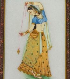 Dancing Ragini | Craft by artist Ecraft India | Marble