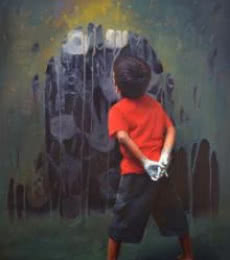 Rising Hands | Painting by artist Pramod Kurlekar | oil | Canvas