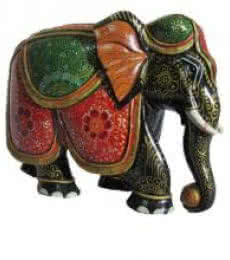 Colored Jumbo Elephant Statue | Craft by artist Ecraft India | wood
