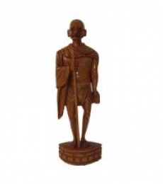 Legend Mahatma Gandhi | Craft by artist Ecraft India | wood