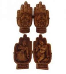Namastey With Laxmi Ganesha | Craft by artist Ecraft India | wood