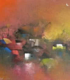 Untitled | Painting by artist M Singh | acrylic | Canvas