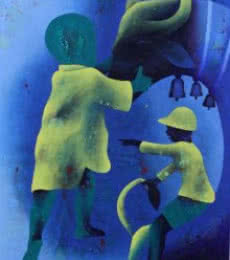 Athkheliyan 74   Painting by artist Lakhan Singh Jat   acrylic   Canvas