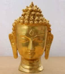 Brass Art | Brass Buddha Head Craft Craft by artist Brass Art | Indian Handicraft | ArtZolo.com