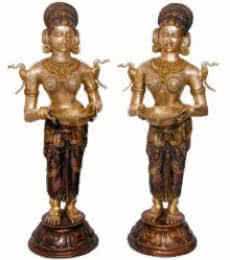 Brass Art | Brass Statue Pair Craft Craft by artist Brass Art | Indian Handicraft | ArtZolo.com
