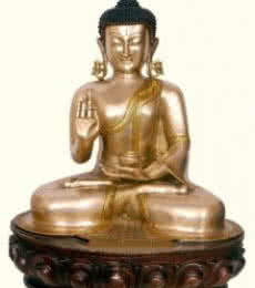 Brass Art | Buddha Giving Blessing Craft Craft by artist Brass Art | Indian Handicraft | ArtZolo.com