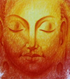 Religious Oil Art Painting title 'The Divine Light' by artist Prince Chand