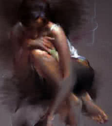 Figure XI | Painting by artist Pramod Kurlekar | oil-pastel | Paper