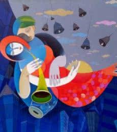 Harmonious City Of Mumbai I | Painting by artist Pradip Sarkar | acrylic | Canvas
