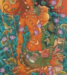 Manikandan Punnakkal | Acrylic Painting title Untitled 18 on Canvas | Artist Manikandan Punnakkal Gallery | ArtZolo.com