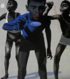 Manohar Rathod | Acrylic Painting title Boys on Canvas | Artist Manohar Rathod Gallery | ArtZolo.com