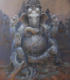 Prarambh | Painting by artist Bijay Biswaal | acrylic | Canvas