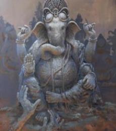 Prarambh   Painting by artist Bijay Biswaal   acrylic   Canvas