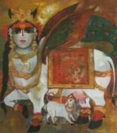 Rajeshwar Nyalapalli | Acrylic Painting title Surabhi on Canvas | Artist Rajeshwar Nyalapalli Gallery | ArtZolo.com