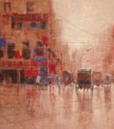 Rickshaw Puller In Kolkata I | Painting by artist Purnendu Mandal | acrylic | Canvas