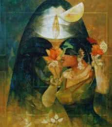 Shakthi 2 | Painting by artist Rajeshwar Nyalapalli | acrylic | Canvas