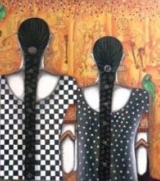 Untitled | Painting by artist Kappari Kishan | acrylic | Canvas