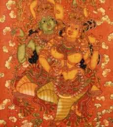 Manikandan Punnakkal Paintings | Acrylic Painting - Radha Krishna by artist Manikandan Punnakkal | ArtZolo.com