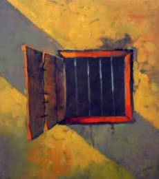 Photorealistic Acrylic Art Painting title Window by artist Sachin Akalekar