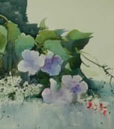 Flowers | Painting by artist Bijay Biswaal | watercolor | Paper