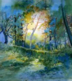 Fresh Air | Painting by artist Bijay Biswaal | watercolor | Paper