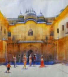 Jaipur Palace | Painting by artist Bijay Biswaal | watercolor | Canson Paper
