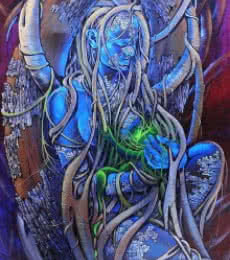 Mother Earth | Painting by artist Bijay Biswaal | acrylic | Canvas