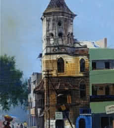 Nagpur Morning | Painting by artist Bijay Biswaal | acrylic | Canvas