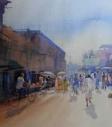 Other Side Of Puri | Painting by artist Bijay Biswaal | watercolor | Canson Paper